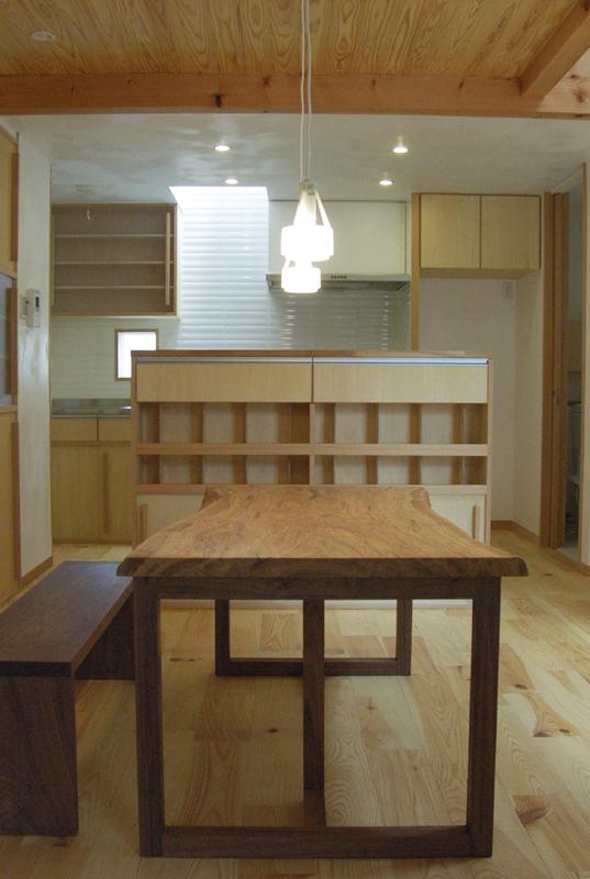 クリ一枚板天板 無垢テーブル