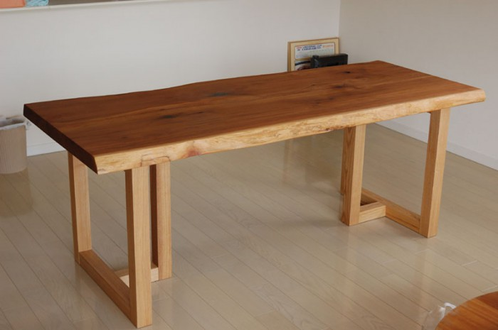 米杉一枚板天板ダイニングテーブル