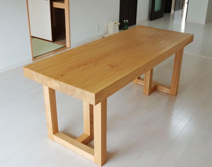 ニレ一枚板天板ダイニングテーブル