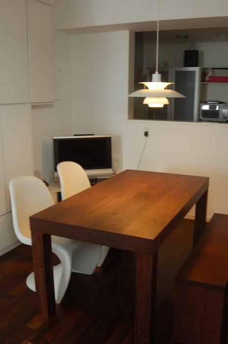 ATDZ TABLE , ATDZ BENCH  / walnut ウォールナット材で製作したアッツテーブルとアッツベンチをご納品しました