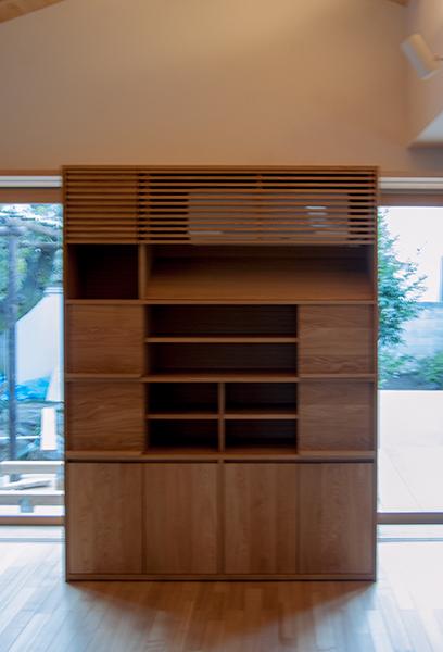 無垢オーダー家具、TANA飾り棚、ご納品の様子です
