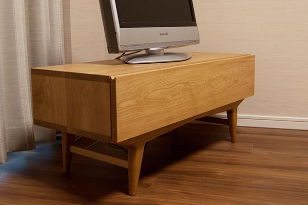 無垢オーダー家具/ナラ材のTONEテレビボード
