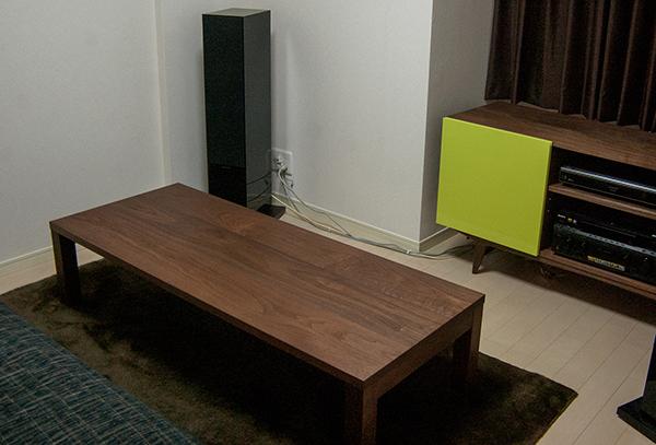 無垢オーダー家具TONEAVボードとスタンダードテーブル・タイプ2ご納品の様子です