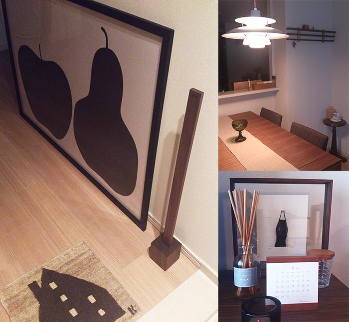 ご納品したベム、ラインラック、フローフレームなどの家具や小物を飾ってくださっている写真です