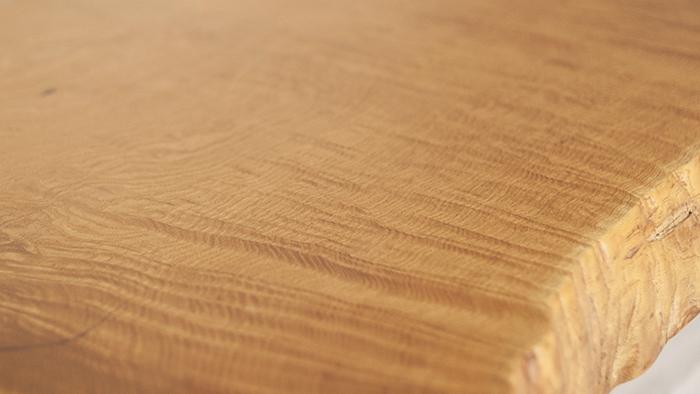 無垢天板|クリの一枚板、アップ写真