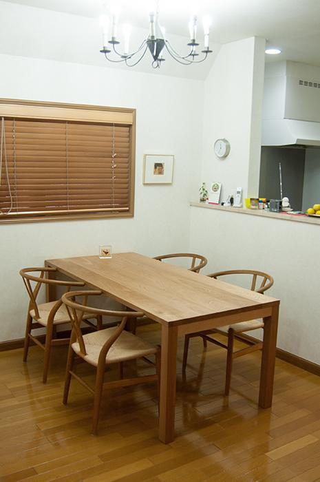 ナラ材スタンダードテーブル・タイプ2をご納品した画像です