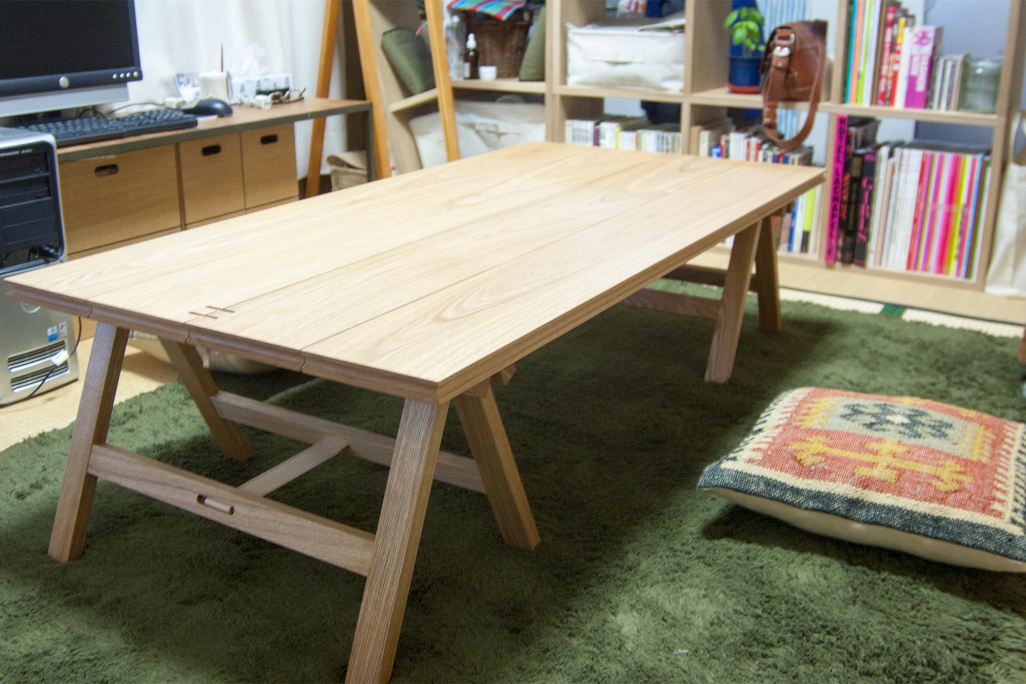 折りたたみテーブル「ぱたむテーブル」ロータイプ