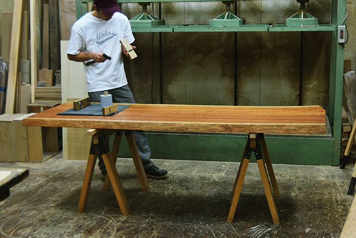 アメリカンブラックチェリー一枚板天板メンテナンス