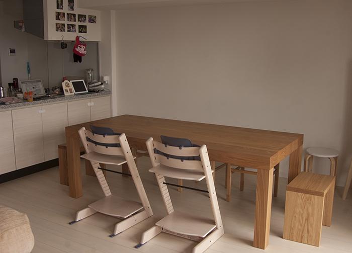 オーダー家具の納品|アッツテーブル、ピコチェアー、アッツスツール