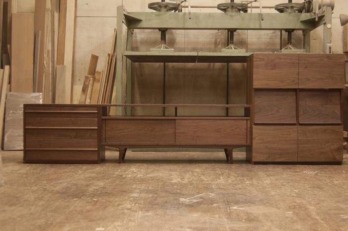 オーダー家具の納品|キャビネット、テレビボード、チェスト