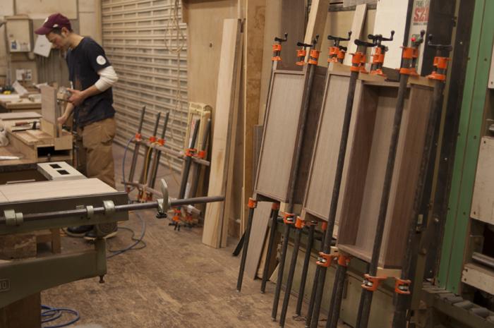 オーダー家具の製作途中