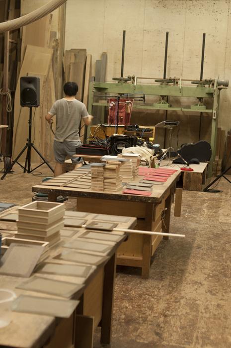 イベント「こうぼうのおんがく Vol.3」|ワークショップ前、宮内さんのセット