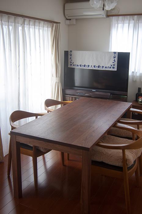ウォールナット材スタンダードテーブル・タイプ2