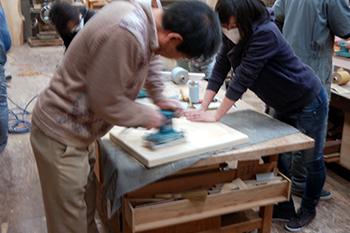 2012年2月開催「小テーブルをつくろうワークショップ」