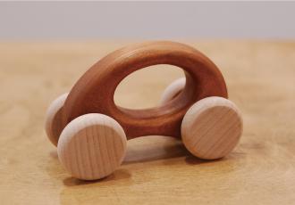 木の車/エッグ/チェリー材
