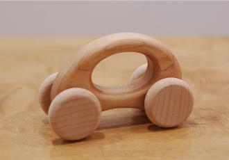 木の車/エッグ/メープル材