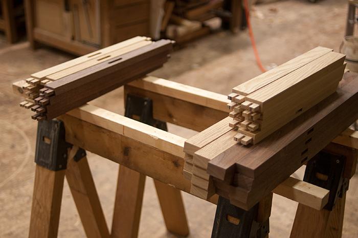 折りたたみテーブル『ぱたむテーブル』用脚部製作中