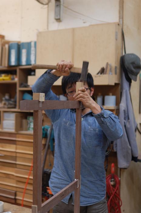 折りたたみテーブル『パタムテーブル』 製作中