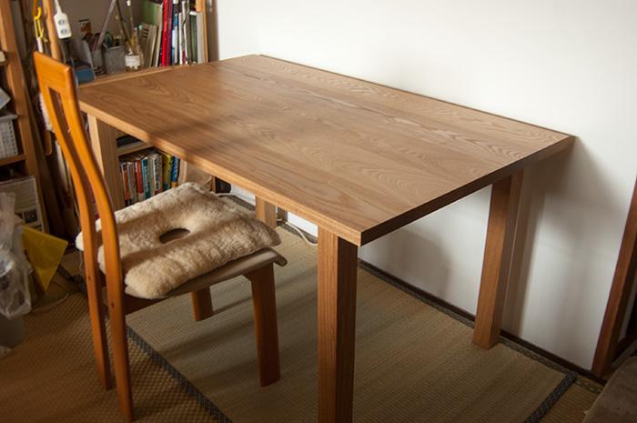 タモ材スタンダードテーブル・タイプ2