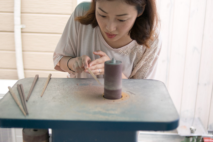 「お箸づくりワークショップa kouah」2014年6月28日