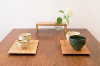mAAch ecute神田万世橋にて販売予定の木の小物サンプル