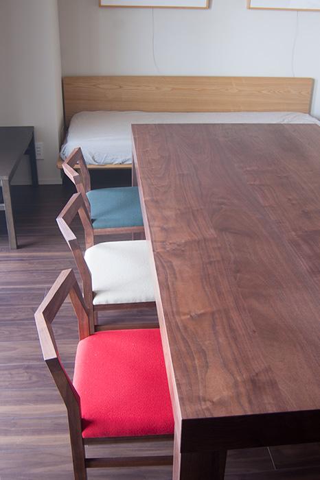 ATDZ TABLE & PICO CHAIR / walnut ウォールナット材 ピコチェア アッツテーブル 無垢 家具