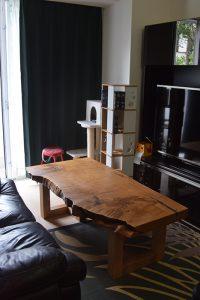 クリ 一枚板 天板 ローテーブル 無垢 家具