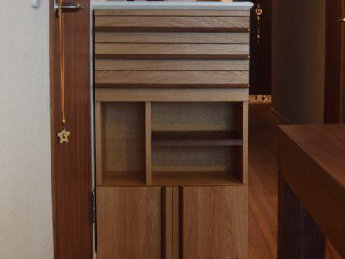 カウンター下収納 TANA仕様の機能的な収納棚