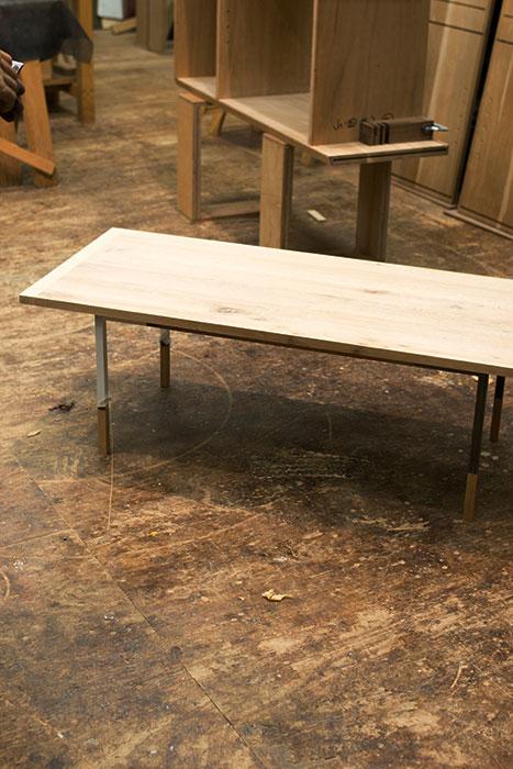 試作中のローテーブル