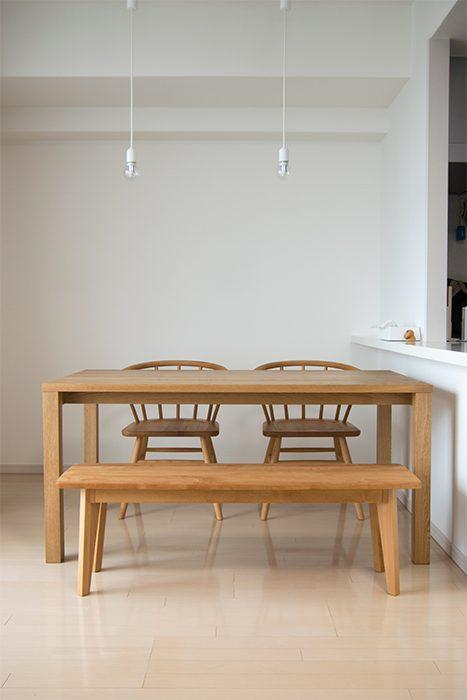 ご納品したナラ材の木製テーブル スタンダードテーブル・タイプ2