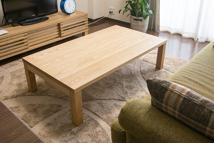 タモ材で製作したスタンダードテーブル・タイプ2をご納品させていただいた様子をご紹介します