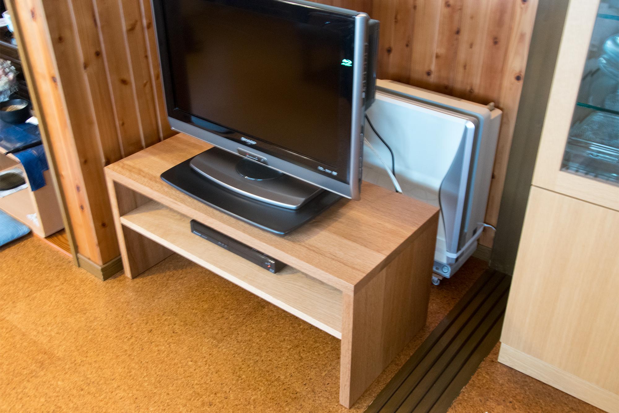 コの字型 テレビボード ナラ材