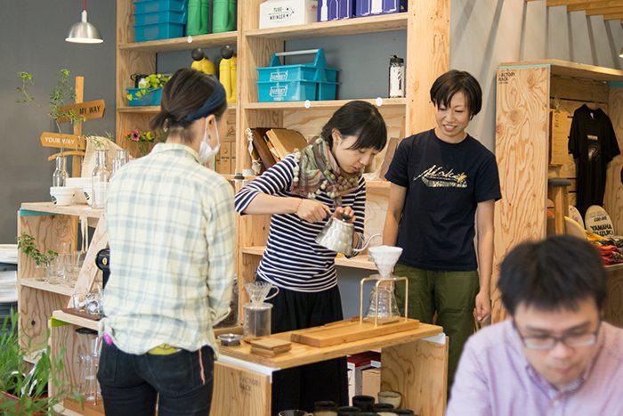 kittaki コーヒードリップスタンドをつくろうワークショップ 2日目 コーヒードリップの時間