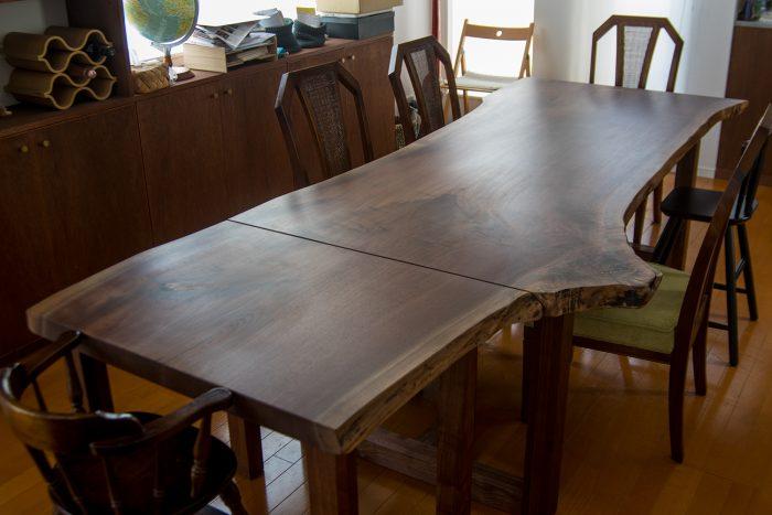 一枚板天板ダイニングテーブル/ウォールナット
