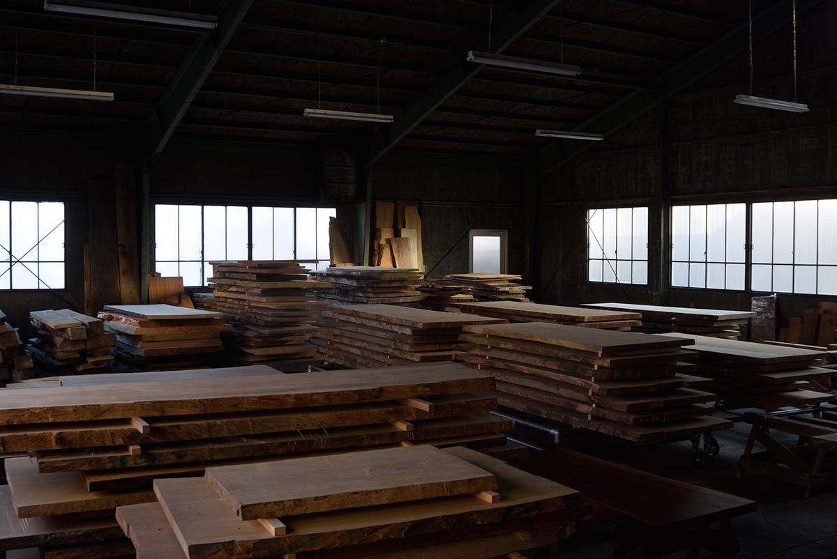 無垢天板 テーブル 材料倉庫