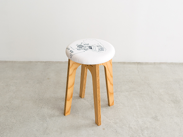 old clothes stool #004