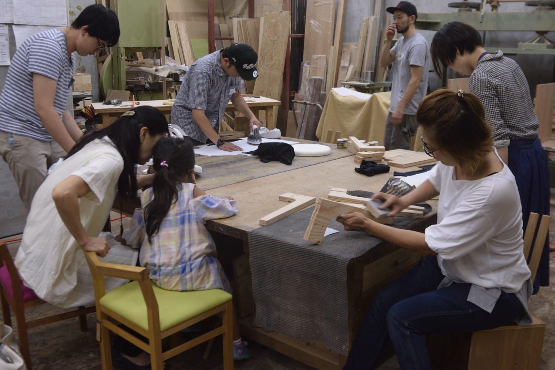 『2015年8月開催 第二回 old clothes stool workshop』