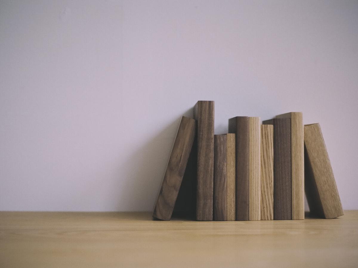 mook 木のブックエンド