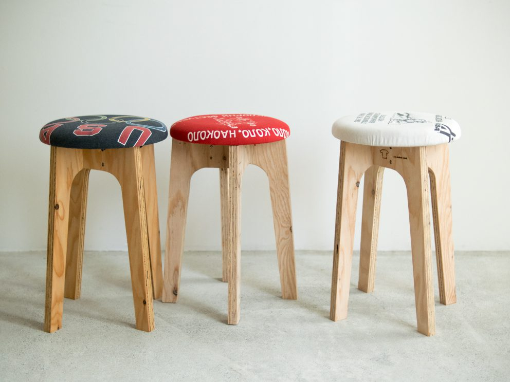 old clothes stool ワークショップ
