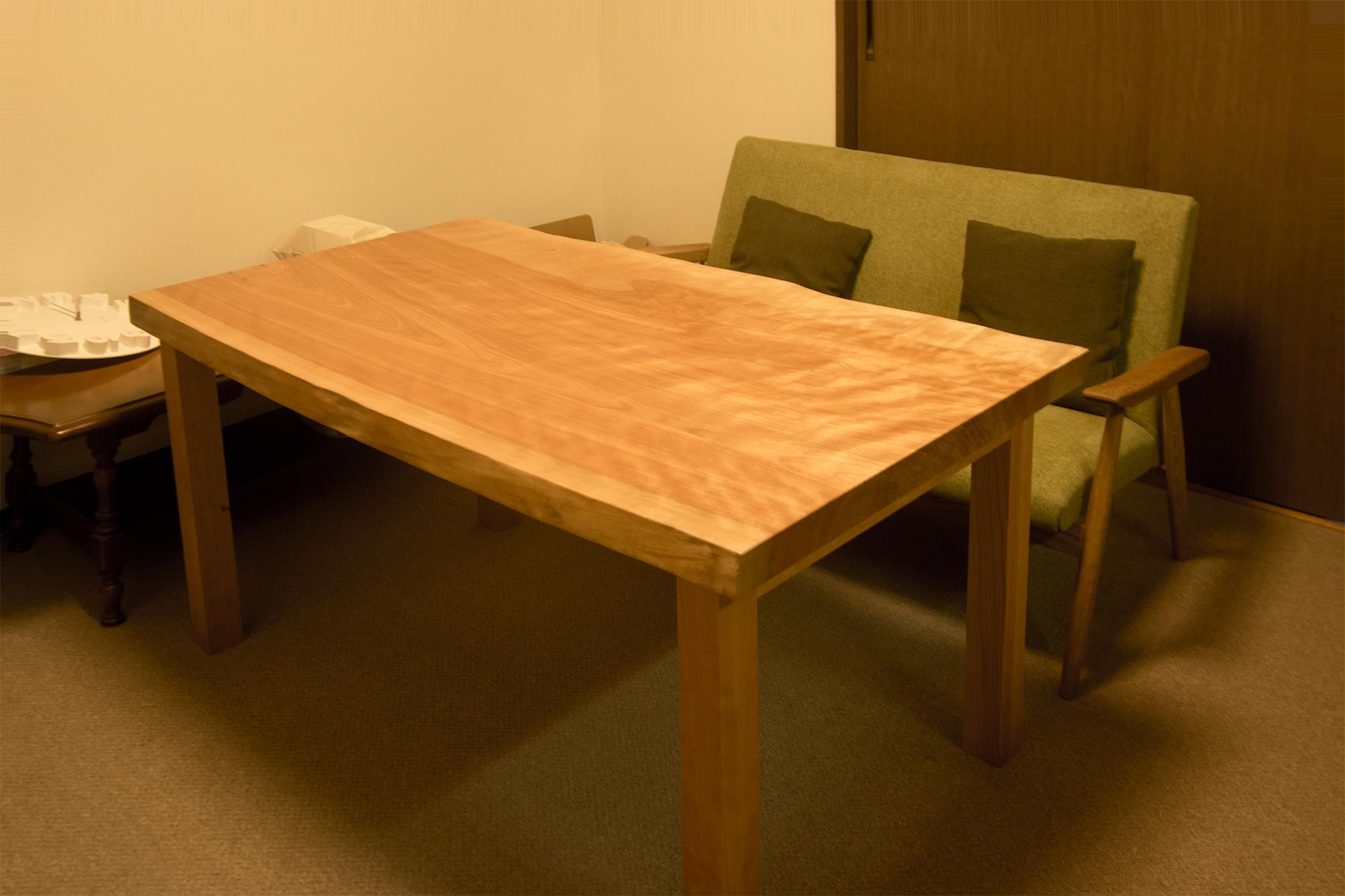 かば一枚板天板 テーブル