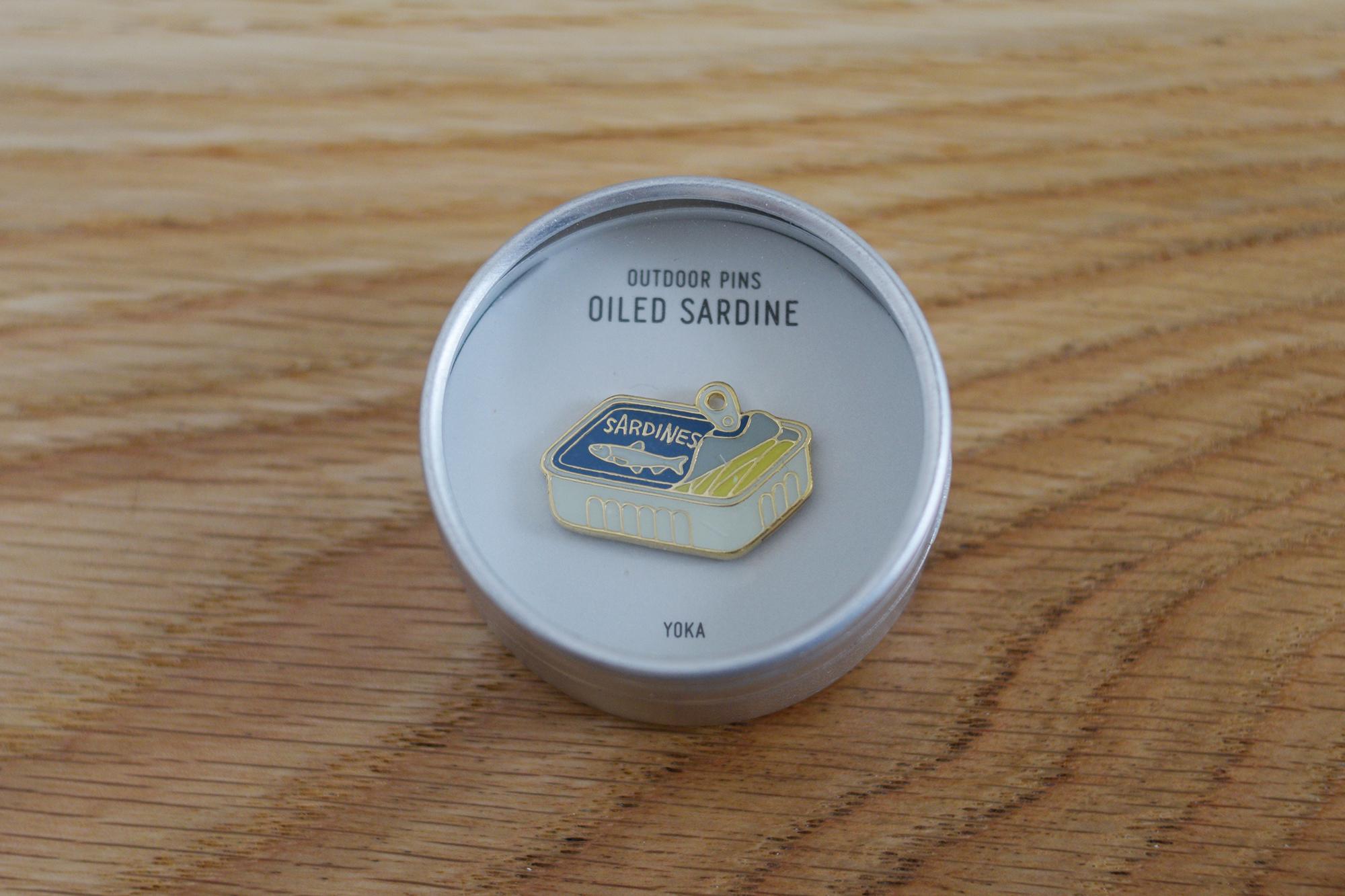 Oiled sardine / YOKA Outdoor Pins