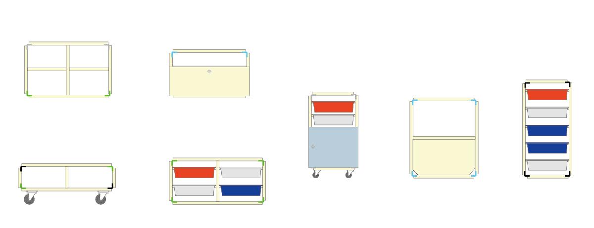 FACTORY RACK ワークショップで作ることができる形のイメージ