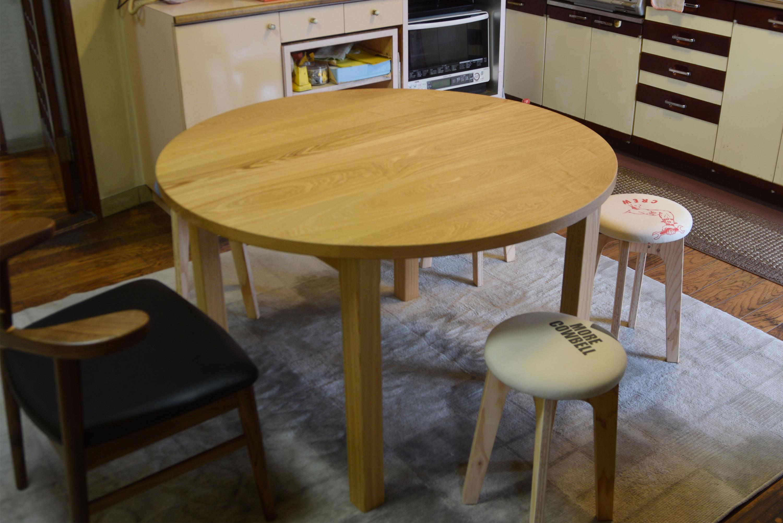 丸天板のスタンダードテーブルとOCS