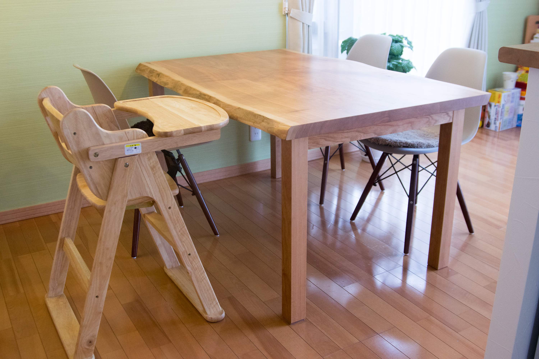 4人掛け アメリカンチェリー材 3枚接ぎ天板テーブル