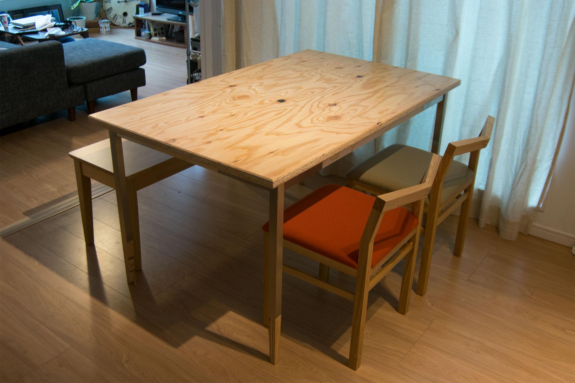 ラーチ合板天板 オルタナティブテーブル ALTERNATIVE TABLE
