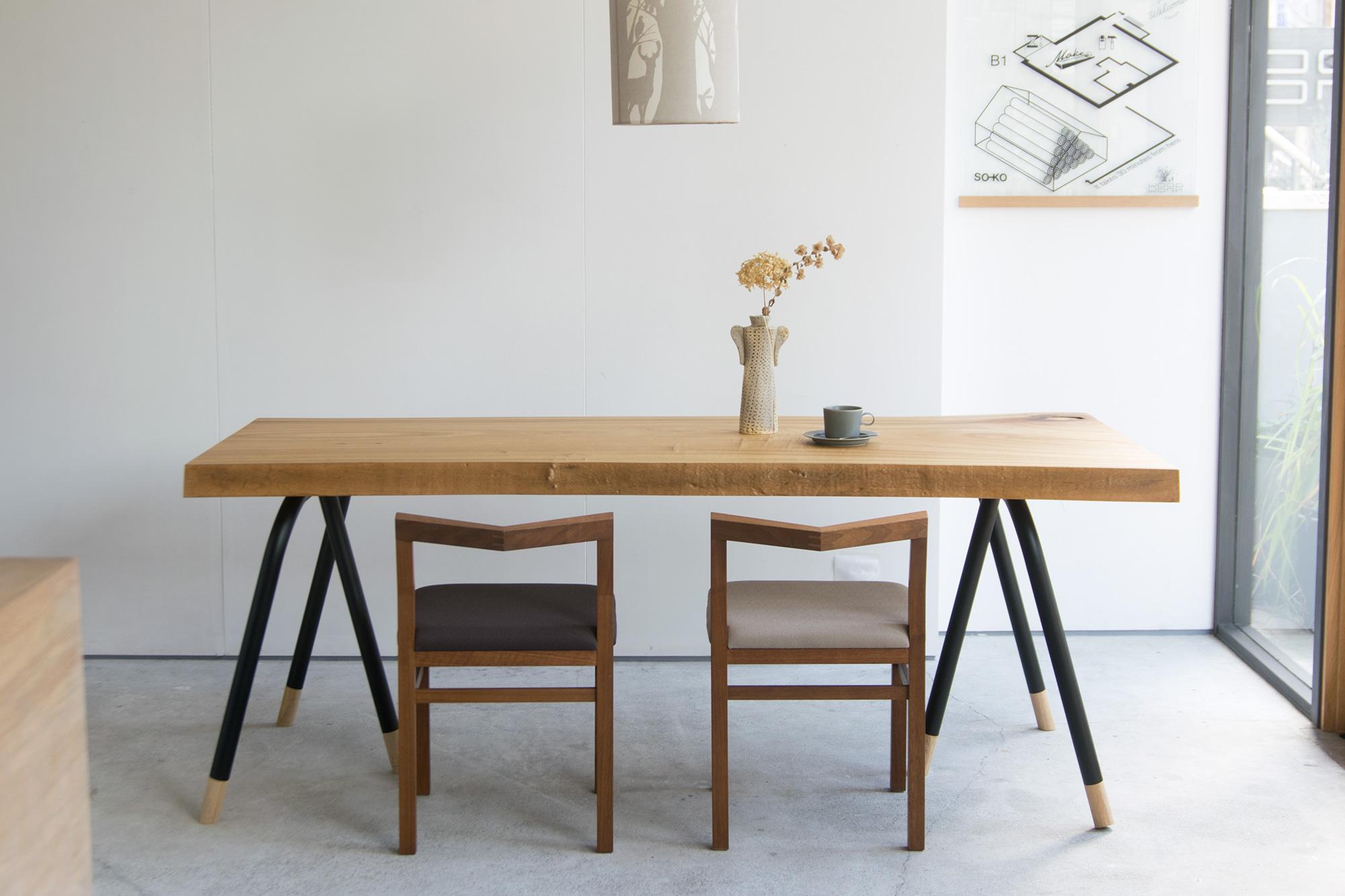 無垢一枚板天板テーブル