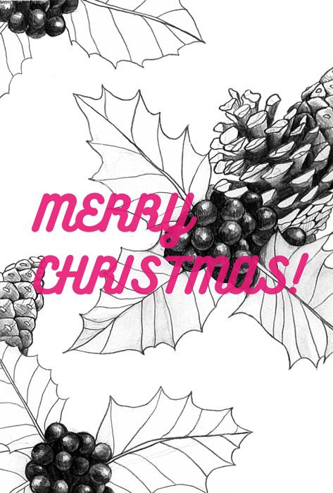 クリスマスカード レッド