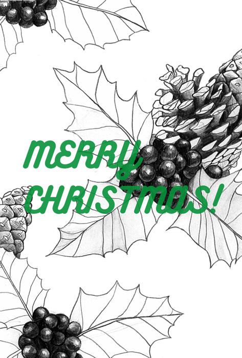 クリスマスカード グリーン