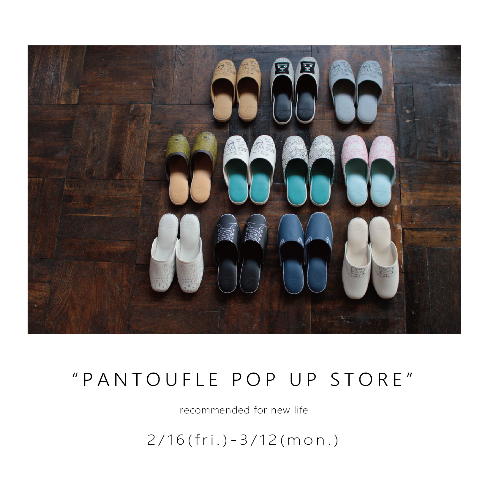 CLOAKROOMS PANTOUFLE POP UP