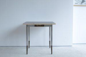 オルタナティブテーブル ラーチ+メラミン貼り天板+ステンレス脚部